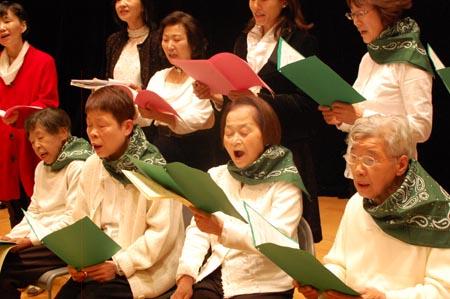 岡山の特別養護老人ホーム【愛光苑】2012クリスマスコンサート3