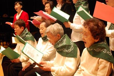 岡山の特別養護老人ホーム【愛光苑】2012クリスマスコンサート4