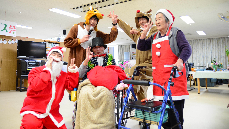 特別養護老人ホーム【愛光苑】クリスマス会写真